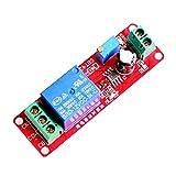 Homyl Module De Relais Interrupteur Temporisé Réglable 0-10 Seconde NE555 - Rouge 12v