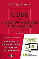 Code de l'action sociale et des familles 2016, commenté - 12e éd.