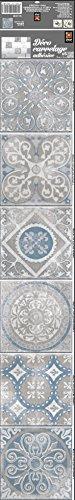 Plage 260583 Smooth - Tiles Fliesen Sticker Antico Elvas [6 Bogen 15 x 15 cm; 5.90''X 5.90''...