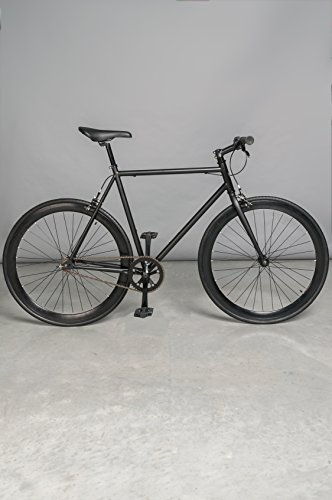 Vilano Rampage Fixed Gear Fixie Single Speed Road Bike(Matt Black, 58cm)