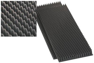 Monacor 12.2220 40mm LS-Dämmschaum, grau (2er Pack)