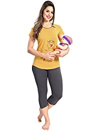 AV2 Women Cotton Maternity/Feeding/Nursing Nightwear Set