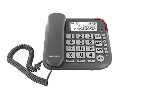 Telefunken TF 501 Cosi - Teléfono fijo, color gris