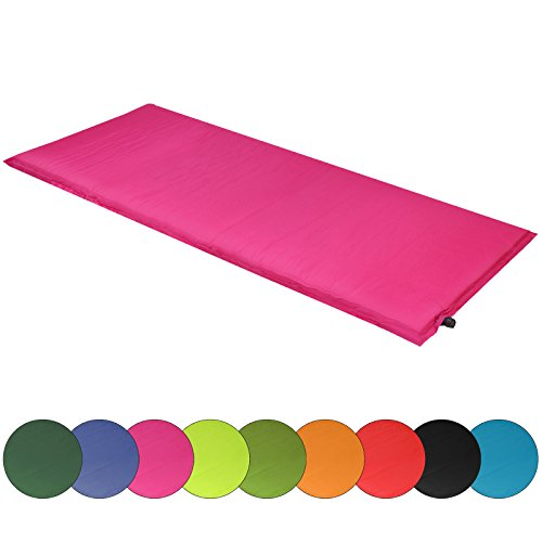 ALPIDEX Isomatte Selfinflating Matte Selbstaufblasende Outdoor Thermomatte in Verschiedene Größen und Farben, Maße:200 x 66 x 6.0 cm, Farbe:Berry