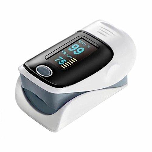 kimberleystore tragbar Herzfrequenz Sauerstoffsättigung Fingertip Pulsoximeter (grau)