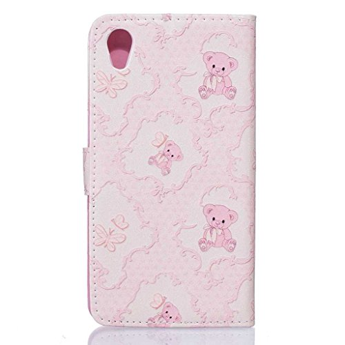 iPhone 5C Hülle + [Frei Hartglas Displayschutzfolie], BoxTii Apple iPhone 5C Schutzhülle mit Kartenfächern Ständer Funktion Magnetverschluss, Kratzfeste Wickelfalz Lederhülle Ledertasche mit Stoßdämpf #6 Pink