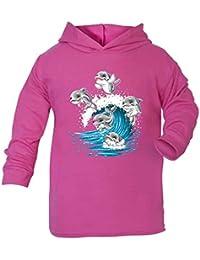 Delfines para Hoddie Kids Top Niña regalos cumpleaños parte superior vacaciones regalos animales
