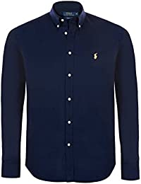 Ralph Lauren Polo Men\u0027s Custom Fit Poplin Shirt White Navy Black S - XXL