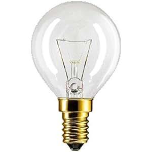 Philips P45x78 Lampe de four ronde Culot E14 300°C