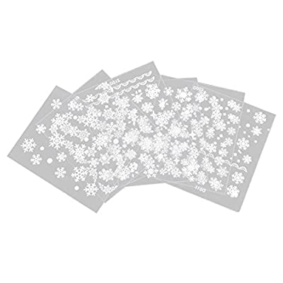 TOOGOO(R) Fashion 6 Sheets Snowflake 3D Nail Art Stickers Decal Tip DIY Decoration