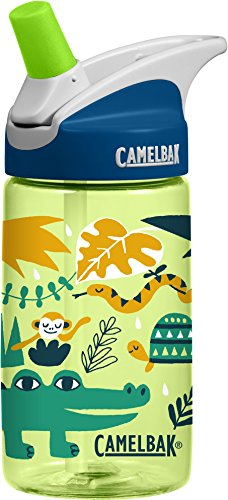 CamelBak Kinder Eddy .4L Trinkflasche, Jungle Animals, 0.4 Liter