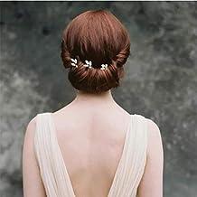Handcess oro strass spille fermagli per capelli sposa accessori per capelli  per sposa e damigelle 930488ce1ef2