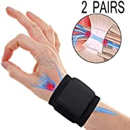 Wrist Brace Carpal Tunnel,Wrist Compression Strap,Adjustable Wrist Support for Arthritis and Tendinitis Pain Relief Ergonomi