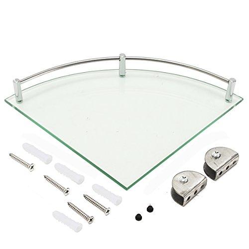 Sorliva - Estante triangular para ducha, 20 cm, 25 cm, moderno, de cristal, para el baño, organizador de toallas, una sola capa