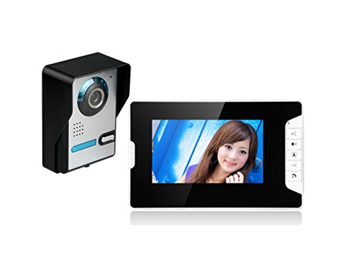 "Amocam 1-Waterproof Camera 1-TFT Monitors 7"" Video Intercom Visual Doorbell Kits Door Phone System IR Night Vision 2-way Hands Free intercom for Home Office"