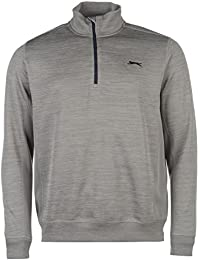 Slazenger Homme Storm Pullover Top Haut Pull Manches Longues Sport Col Montant