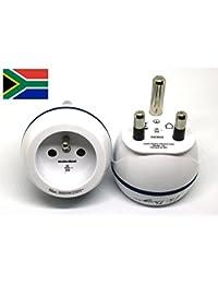 Adaptateur De Voyage France Vers Afrique du Sud - Gamme Bulle- BB0182 - LTE Design - Leach Travel Europe
