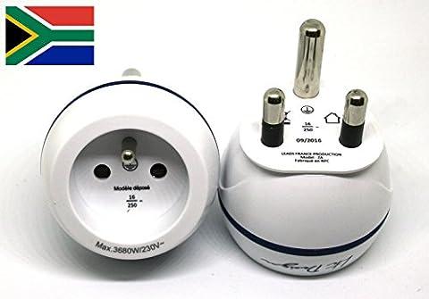 Adaptateur De Voyage France Vers Afrique du Sud - Gamme Bulle- BB0182 - LTE Design - Leach Travel