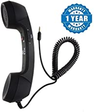 Padraig Classic Phone Telephone Style Phone Handset With 3.5mm Jack, Pickup/Hangup Button & Mic for All Phones