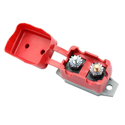 YouN 24V Manual Reset Circuit Breaker w/Protective Red Boot for Car Boat(30A) 30a Fuse Block Holder