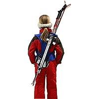 Wantalis Skiback - Portaesquís y bastones infantil azul azul Talla:1,30 m