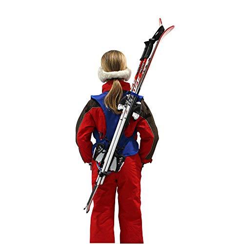 Wantalis - Skiback kid - Un produit révolutionnaire pour porter vos skis en libérant vos mains - Bretelles adaptables et réglables - Taille enfant 1m30 maxi