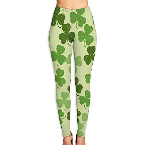 Deglogse Yogahosen, Trainingsgamaschen,PersonalizedLeaf Clover Shamrocks Women's Printed Leggings Pants for Sports Yoga Workout Gym Running (Size Halloween-kostüme S Plus Verkauf Women)