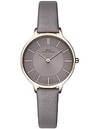 IBSO Women Fashion Simple Watch Ultra-Thin Retro Quartz Analog Leather  Strap Ladies Wristwatch ( 327360ab0e99