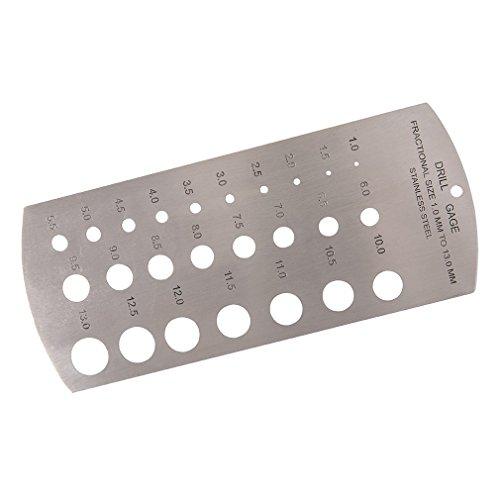 Silverline 598570 Bohrerlehre 1-13 mm