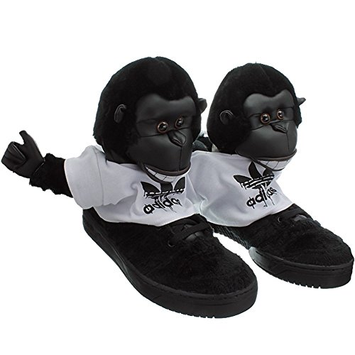 Adidas JS Gorilla Jeremy Scott V24424 Herren Sneaker / Freizeitschuhe Schwarz Schwarz