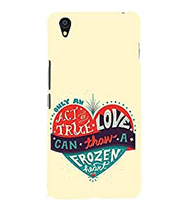 EPICCASE true love Mobile Back Case Cover For OnePlus X (Designer Case)