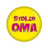 Als Geschenkidee zu Weihnachten bestellen Für Oma und Opa - Kiwikatze® Familie - stolze Oma - 37mm Button Pin Ansteckbutton als Geschenk oder Mitbringsel für die lieben Verwandten