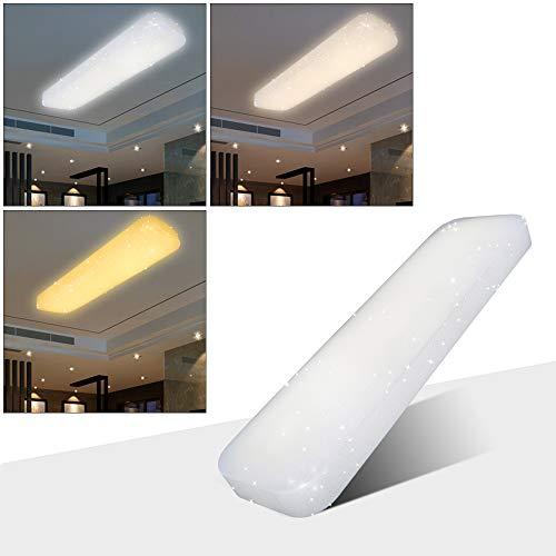 VGO® 30W LED Starlight Effekt Deckenlampe 3in1 Esszimmer Quadrat Wand-Deckenleuchte Schlafzimmer Deckenbeleuchtung Badezimmer geeignet (Ändern Schalter Licht Sie Wand)