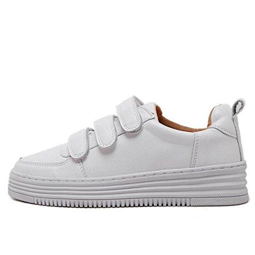L@YC Chaussures plates femmes cuir chaussures Casual ¨¦tudiants au printemps peu blanc chaussures blanc white