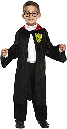 Boys Girls Wizard Robe Fancy Dress Costume Harry Potter Dressing Up Outfit for World Book Day All Ages VEX (7-9 years) by Henbrandt