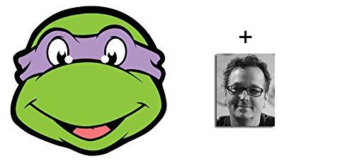 Donatello Teenage Mutant Ninja Turtles Karte Partei Gesichtsmasken (Maske) - Enthält 6X4 (15X10Cm) starfoto (Splinter Teenage Mutant Ninja Turtles Kostüm)