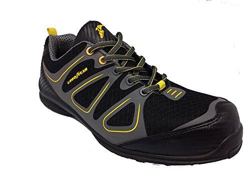 """Goodyear Chaussures De Sécurité/Chaussures de travail S1P–HRO–SRA–gyshu1509"""" Noir - Noir/gris"""