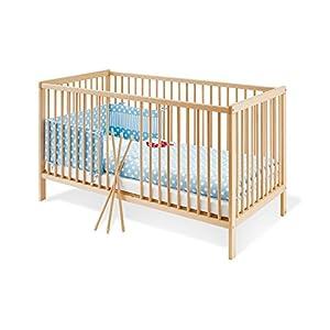 Pinolino – 111038 – Kinderbett Hanna 140 x 70 cm – mit 3 Schlupfsprossen aus vollmassiver Buche