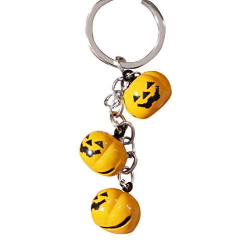 VORCOOL Halloween Kürbis Bell Keychain Auto Schlüsselanhänger Handtasche Tasche Anhänger Dekoration Hängende Keychain Zubehör Kreatives Geschenk