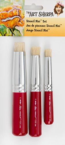 Silver Brush The Art Sherpa Schablonenpinsel-Set für Anfänger, Acrylfarben Jackson Sherpa