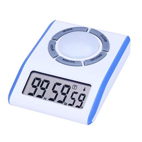 AIMILAR Digitaler Countdown-Timer mit Loop-Timer - Wiederholungszykluszählung nach oben und unten Timer für Küche Kochen Kinder Spiele Studenten Lehrer blau