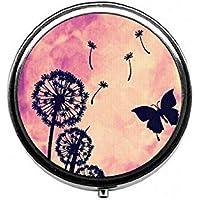 LinJxLee Butterfly Portable Round Pill Case Pill Box Medicine Box Medicine Tablet Vitamin Organizer for Purse... preisvergleich bei billige-tabletten.eu