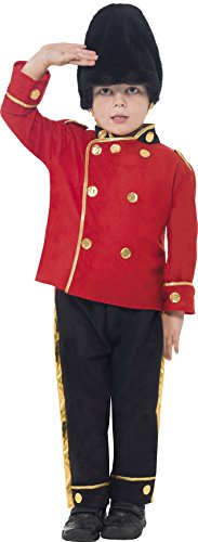 Smiffys Kinder Busby Guard Kostüm, Oberteil, Hose und Hut, Größe: M, (Red Kostüm Zone)