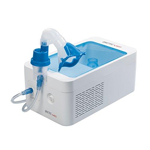 Imetec med ar1000 aerosol a pistone con mascherina pediatrica a grandezza variabile e snodo per somministrare i farmaci in posizione sdraiata, completo di accessori, dispositivo medico ce0434