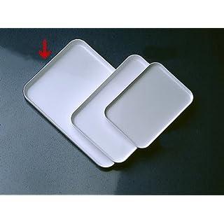 1x serving tray white tea trolley, side table, Dekowagen
