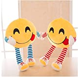 #10: Frantic Premium Plush Feeling Hungry Decorative Smiley Pillow Cushions with Soft Hands and Legs Pack of 2