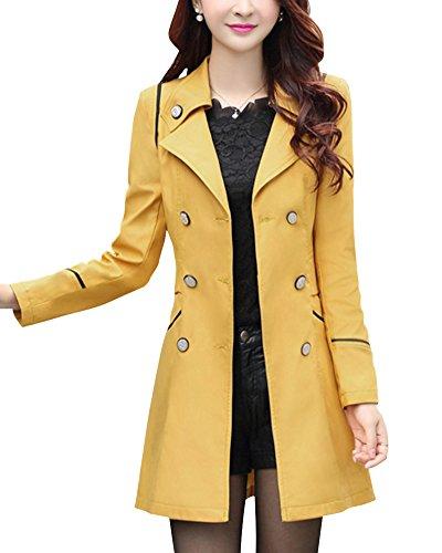 Damen Trench Coat Gelb