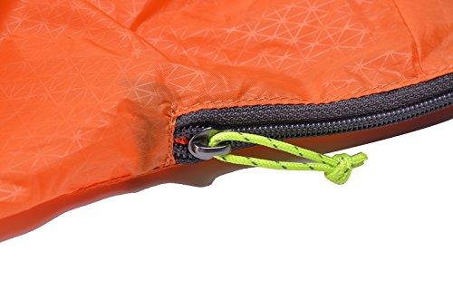 GEERTOP Pieghevole Zaino Daypack Borsa Ultraleggero Impermeabile Portatile 70g - 16L - Per Ciclismo Campeggio Trekking Scuola Sport Viaggi Escursionismo (Azzurro) Arancia