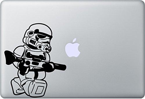 Stormtrooper Aufkleber MacBook Air Pro Sticker Decal Apple Star Wars (Schwarz)
