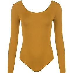 WearAll - Combinaison Extensible à Manches Longues - Combinaisons - Femmes - Moutarde - 36-38